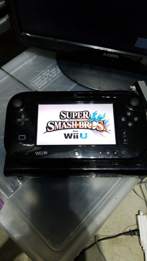 Nintendo Wii U with Super Smash Bros for Sale in Germantown, MD