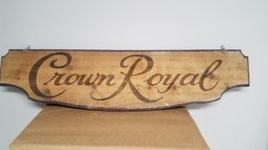 Crown royal wooden sign for Sale in Olney, MD