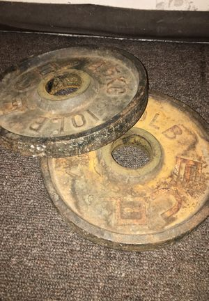10lbs plates for curl bar (2) in total for Sale in Compton, CA