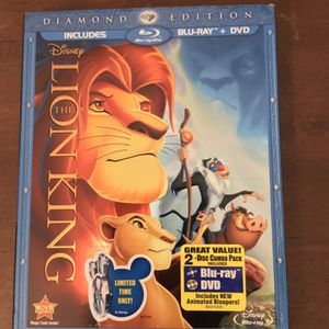 Disney The Lion King Blu-Ray +DVD for Sale in Chicago, IL