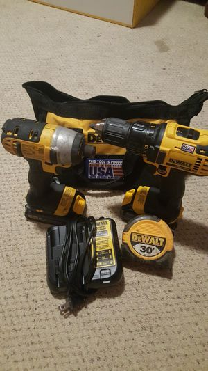 Dewalt 1,impak drill ,1 drill ,2 battery s ,1 charger, 1 measure tape,and bag. for Sale in Spartanburg, SC