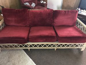 Wicker couch for Sale in Estill Springs, TN