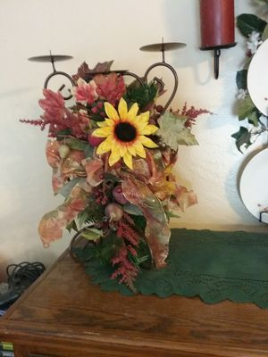 Beautiful floral candle holder for Sale in Grand Terrace, CA