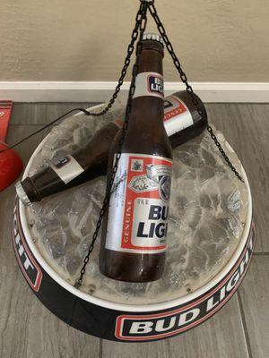 Antique Bud Light 3D bottles in Ice Hanging Bar Light for Sale in Gilbert, AZ