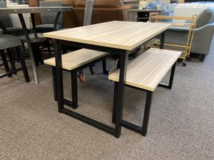 👉⭐️3 Piece Small Kitchen Dining Table Set w/ Light Oak Top & Wood Black Legs Brand New Same Day Delivery 🚚 for Sale in Richmond, TX