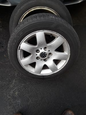 A set of BMW rim 16 inch has curb Mark's tire are dry rotted 150 for Sale in Old Bridge, NJ