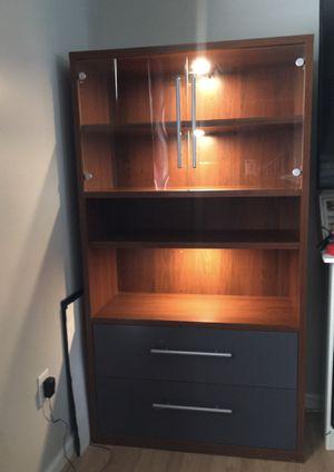 2 drawer shelf cabinet for Sale in Manassas, VA