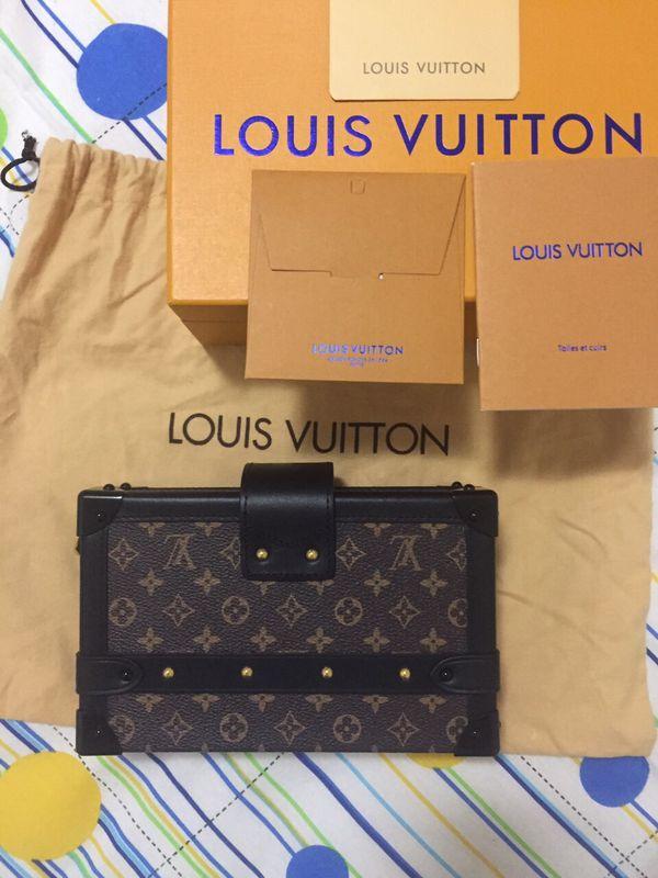 Louis Vuitton Petite Malle Monogram Canvas Shoulder Bag