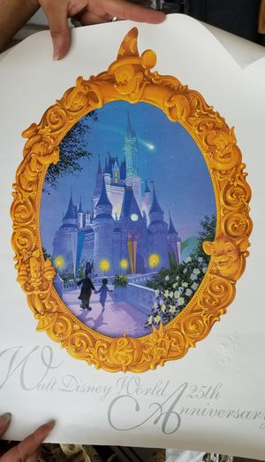 """ORIGINALS !!! DISNEY POSTERS 25 YR. ANIVERSARY AND ONE OF """"2000"""" for Sale in Kissimmee, FL"""