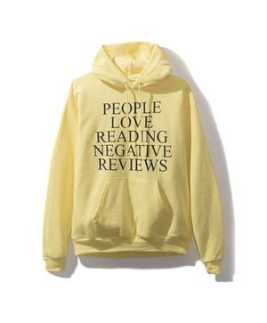 Anti Social Social Club Yelp Yellow Hoodie sweater large for Sale in Bakersfield, CA