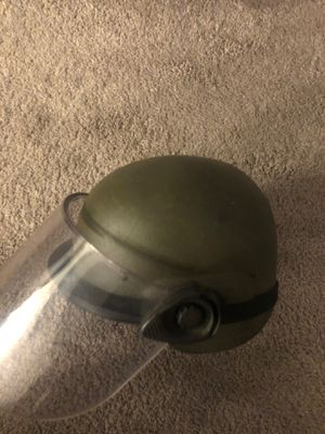 riot helmet w/ faceshield and cover for Sale in Placentia, CA
