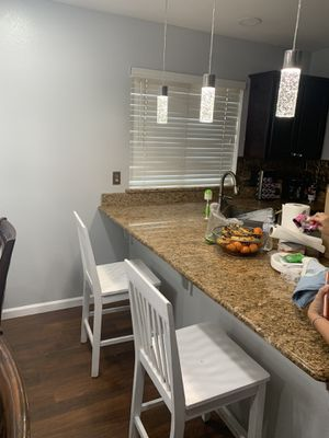 2 white bar stools for Sale in Fresno, CA