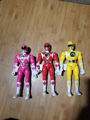 3 Vintage 1993 power ranger action figures for Sale in Pasadena, CA