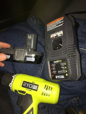 Ryobi 18 volt drill, battery, and charger for Sale in Tallahassee, FL