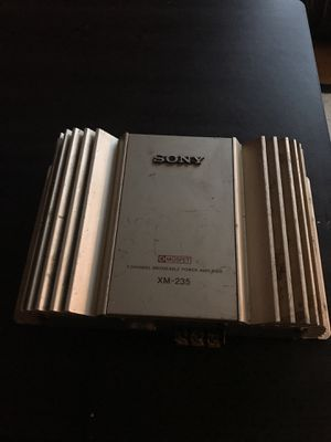 Sony 2 channel bridgeable power amplifier for Sale in Mount Rainier, MD