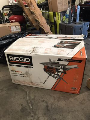 RIDGID 15 Amp 10 in. Table Saw with Folding Stand for Sale in Garden Grove, CA