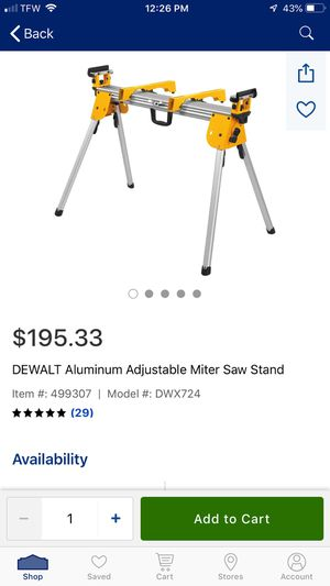 Dewalt mittersaw stand for Sale in Lithonia, GA