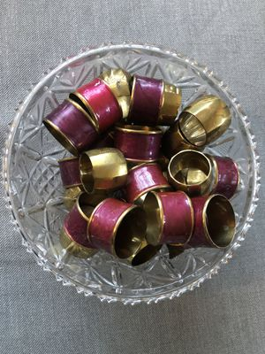 Napkin rings - Gold and Bordeaux colors for Sale in Los Angeles, CA