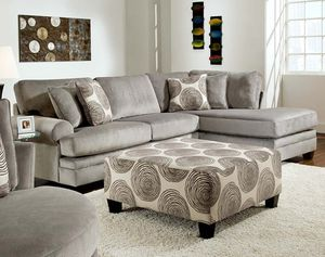 Grey Sectional with pillows NO OTTOMAN for Sale in Savannah, GA