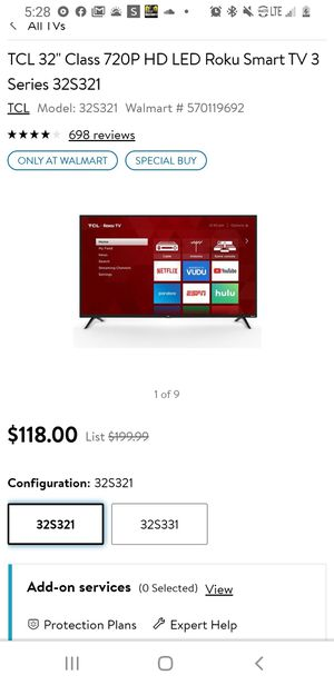Tcl roku tv for Sale in Cartersville, GA
