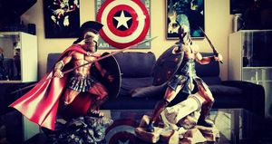 Sideshow Leonidas and Achilles statue set ARH studios movie 300 and Troy for Sale in Apopka, FL