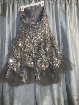 Silver sequin prom dress for Sale in Brooklyn, NY