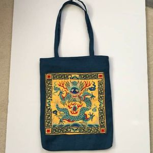 Summer fabric shopper tote bag with embroidery for Sale in GRANT VLKRIA, FL