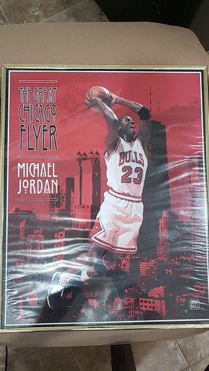 Michael Jordan framed picture for Sale in Plano, TX