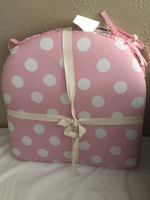 Pier 1 pink polka dot chair cushions for Sale in Denver, CO