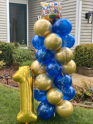 Happy birthday balloon column for Sale in Elgin, IL