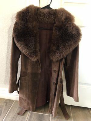 Brown Women's fur jacket size small for Sale in Queen Creek, AZ