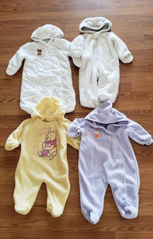 Winter baby onesies suits covers size 6-9 months for Sale in Denver, CO