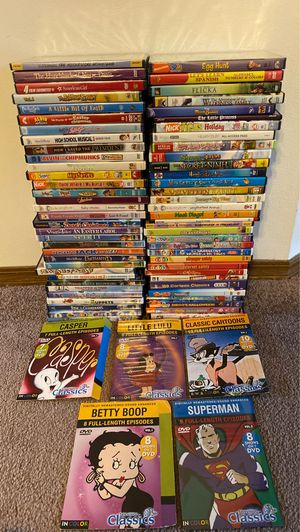 Kids movies cartoons for Sale in Edwardsville, IL