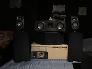 Klipsch synergy 6 speaker hometheater for Sale in Visalia, CA