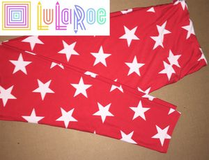 LuLaRoe TC Leggings Stars Red & White for Sale in East Peoria, IL