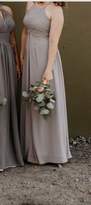 Grey Bridesmaid/Prom/Evening Dress - Size 6 for Sale in Portland, OR