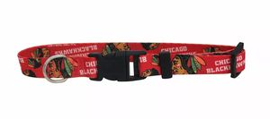 """CHICAGO BLACKHAWKS DOG COLLAR FIT 17"""" TO 26.5"""" LARGE. NEW IN Original Package for Sale in La Vergne, TN"""