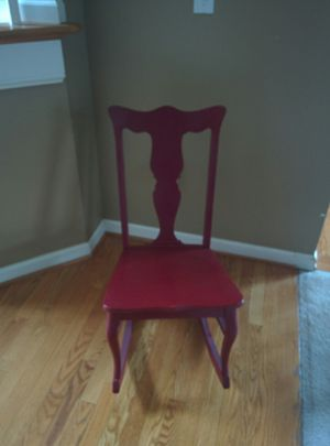 Antique red sewing chair for Sale in Allen Park, MI
