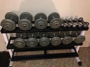 Ivanko fixed Dumbbells; Top of the line! Cast Iron Plate w/ Cast-Iron End Plate for Sale in Ferndale, MI