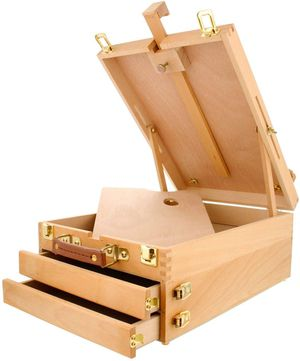 Extra Large 2-Drawer Wooden Sketchbox Easel for Sale in Towson, MD
