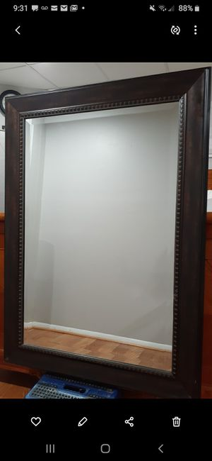 Wall Mirror , frame dark brown ( 31 x 44 ) for Sale in Washington, DC