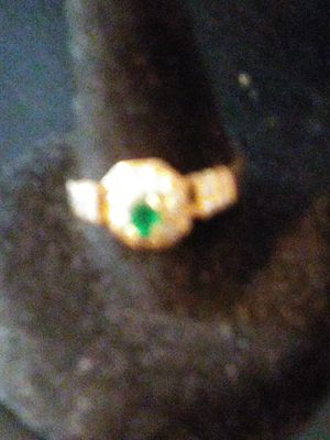 Gold emerald ring for Sale in Clarksville, TN