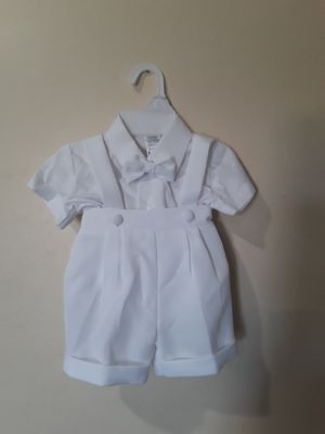 Used, New White Baby Boys Baptism Christening Shorts Suit Outfit 6-12 Months for Sale for sale  Hacienda Heights, CA