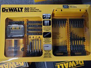 DeWalt DW2587 80-Piece Professional Drilling/Driving Set for Sale in Burlington, NJ