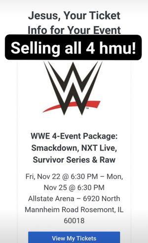 WWE Survivor Series package for Sale in Chicago, IL