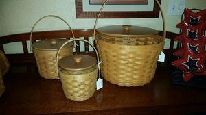 Longaberger Fruit baskets with lids for Sale in Arlington, TX