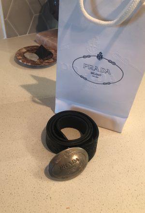 Prada Belt (Western Style) Black Leather for Sale in Phoenix, AZ