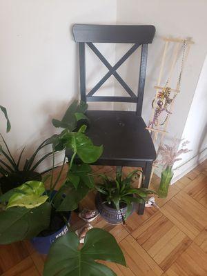 Black Wooden Chair for Sale in Philadelphia, PA