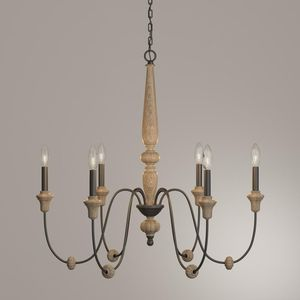 World Imports Capra 6-Light Rust Chandelier w Distressed Ivory Accents BRAND NEW! for Sale in Davie, FL