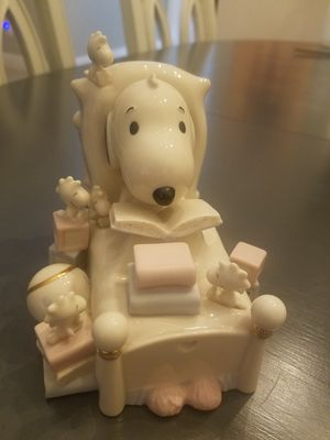 Lenox Baby Snoopy Piggy Bank for Sale for sale  Miami, FL